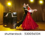 dance beautiful couple dancing...   Shutterstock . vector #530056534