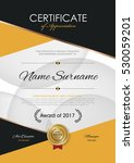 certificate template with... | Shutterstock .eps vector #530059201