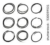 grunge circle set | Shutterstock .eps vector #530059531