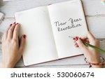 new year resolution aspirations ... | Shutterstock . vector #530060674