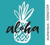 aloha vector lettering | Shutterstock .eps vector #530067259