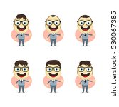 businessman cartoon set | Shutterstock . vector #530067385