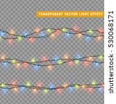 garlands  christmas decorations ... | Shutterstock .eps vector #530068171