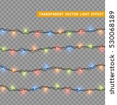 garlands  christmas decorations ... | Shutterstock .eps vector #530068189