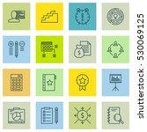 set of 16 project management... | Shutterstock .eps vector #530069125