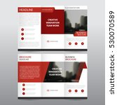 red abstract business tri fold... | Shutterstock .eps vector #530070589