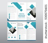 blue square business tri fold... | Shutterstock .eps vector #530070601