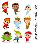 illustration of cute kids... | Shutterstock .eps vector #530072545