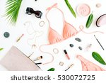 female summer bikini swimsuit... | Shutterstock . vector #530072725
