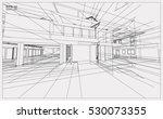abstract 3d render of building...   Shutterstock .eps vector #530073355