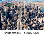 aerial view of the skyscrapers... | Shutterstock . vector #530077321