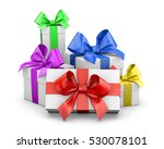 Set Of Gift Box Isolated For...