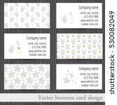 vector set of business cards... | Shutterstock .eps vector #530082049
