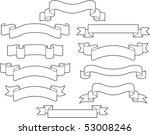 set of white ribbons   Shutterstock .eps vector #53008246