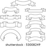 banners and ribbons set | Shutterstock .eps vector #53008249