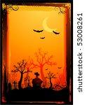 halloween poster background | Shutterstock .eps vector #53008261
