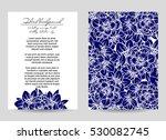 vintage delicate invitation... | Shutterstock . vector #530082745