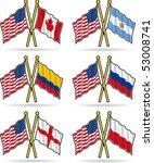 american friendship flags 1   Shutterstock .eps vector #53008741