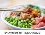 traditional hawaiian ahi poke...   Shutterstock . vector #530090029