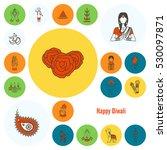 diwali. indian festival icons.... | Shutterstock . vector #530097871