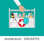 mediacal first aid kit in...   Shutterstock . vector #530103751