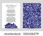 invitation with floral... | Shutterstock . vector #530106379