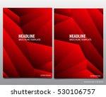 abstract red vector modern... | Shutterstock .eps vector #530106757