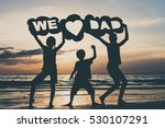 happy children playing on the... | Shutterstock . vector #530107291