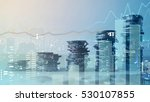 double exposure of graph and... | Shutterstock . vector #530107855
