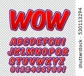 creative high detail comic font.... | Shutterstock .eps vector #530113294