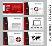 business template design set... | Shutterstock .eps vector #530113321