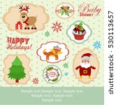 merry christmas stickies and... | Shutterstock .eps vector #530113657