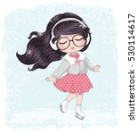 ice skating girl vector design. | Shutterstock .eps vector #530114617