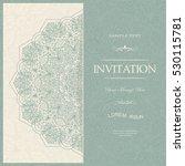 wedding invitation or greeting... | Shutterstock .eps vector #530115781