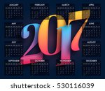 complete set of 12 months  2017 ... | Shutterstock .eps vector #530116039