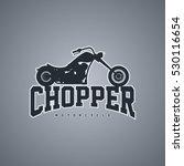 classic chopper motorcycle logo ... | Shutterstock . vector #530116654