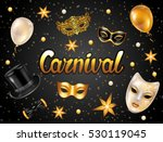 carnival invitation card with... | Shutterstock .eps vector #530119045