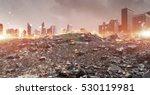 disaster in city concept .... | Shutterstock . vector #530119981