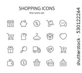 shopping icons. | Shutterstock .eps vector #530122264