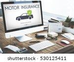 car auto motor insurance... | Shutterstock . vector #530125411