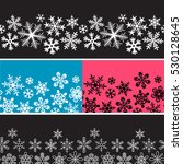 snowflake banner. vector... | Shutterstock .eps vector #530128645