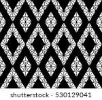 black and white color lattice... | Shutterstock .eps vector #530129041