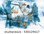 marketing data management... | Shutterstock . vector #530129617