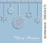 ornamental christmas baubles... | Shutterstock .eps vector #530131171
