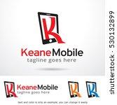 letter k phone logo template... | Shutterstock .eps vector #530132899