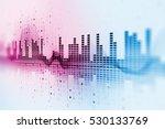 colorful audio waveform... | Shutterstock . vector #530133769