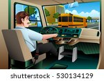 a vector illustration of school ... | Shutterstock .eps vector #530134129