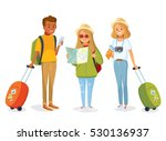 international young people with ... | Shutterstock .eps vector #530136937