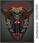 vintage motorcycle label   Shutterstock .eps vector #530137555