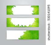 set of three horizontal banners ... | Shutterstock .eps vector #530141095